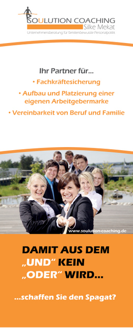 Soulution Coaching Silke Mekat Unternehmensberatung für familienbewusste Personalpolitik Rollup_Soulution