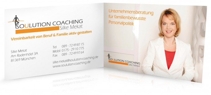 Soulution Coaching Silke Mekat Unternehmensberatung für familienbewusste Personalpolitik Visitenkarte