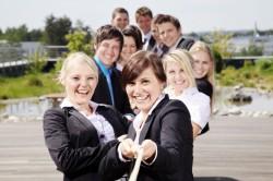 Soulution Coaching Silke Mekat Unternehmensberatung für familienbewusste Personalpolitik an einem Strang Mitarbeiter und Unternehmen